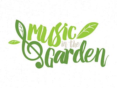 Music In The Garden Logo festival logo garden logo logo
