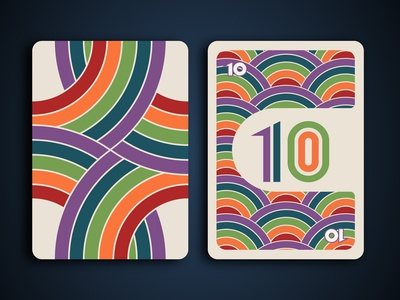Rainbow Card Game - Wild 10