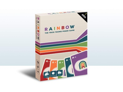 Rainbow Card Game Tuck Box