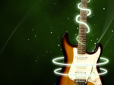 Guitar guitar telecaster light dark green