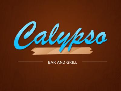 The Calypso logo blue wood texture