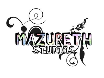 Mazureth Studios logo colorful cartoon fun