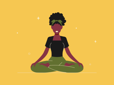 Lotus Pose woman afro pose lotus position yoga