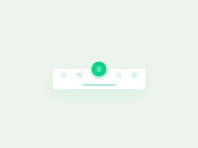 Tab bar for a financial app