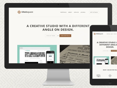 New Tilted Square Site website responsive