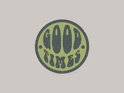 Good Times sticker distress grunge