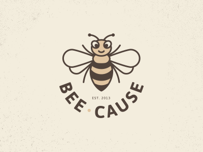 Bee Cause Logo bee logo buzz