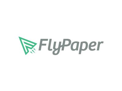FlyPaper Logo logo paper fly