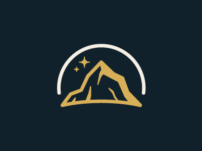 Mountain Logo logo mountain star