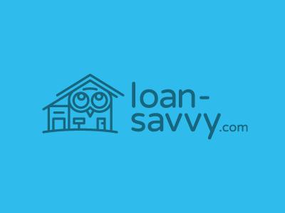 Loan Savvy Logo logo home owl house savvy