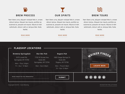 Brewery Footer alcohol spirits footer beer brewery