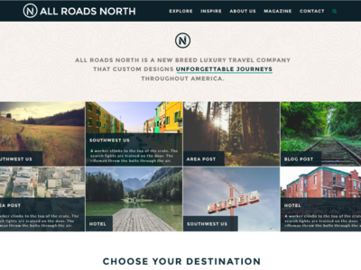 All Roads North Homepage north homepage website travel