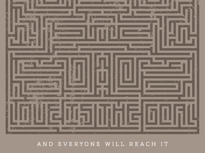 Maze distressed goal love maze
