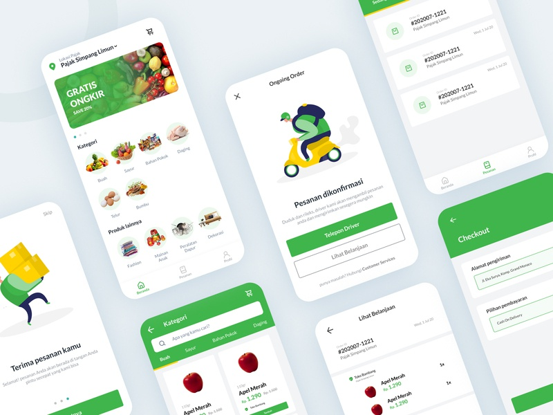 Pasar Kita - Grocery App pajak pasar grosir application mobile grocery app design ui userinterface interface