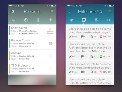 Project Management Utility ui design product concept