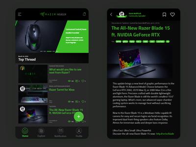 Razer Insider UI fanmade