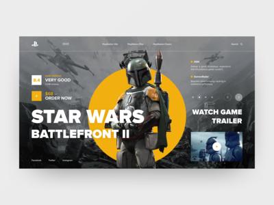 PlayStation Concept Star Wars Battlefront 2