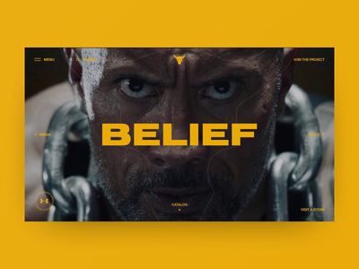 Under Armour Project Rock concept after affects colors ux design animation after effects animation motion fashion charachter black art sport navigation typography layout elements web ui style interace design