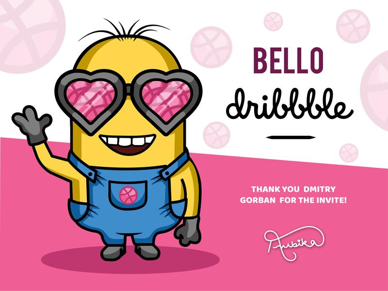 Hello Dribbble! first shot minion illustration