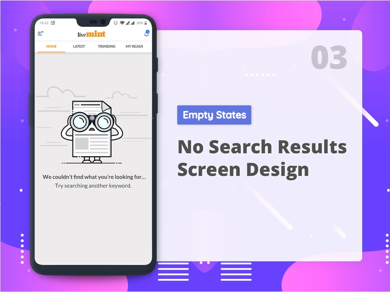 No Search Results empty state no search results app design user interface mobile app flat error page error message clean design app  design vector ux minimal empty state design character concept character art character cute illustration ui