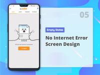 No Internet Connection error state