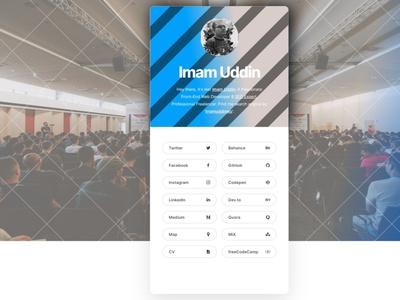 Imam Uddin | imamuddinwp | vCard visual design imam-uddin imamuddinwp imamuddin portfolio design portfolio site portfolio vcard