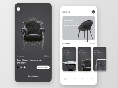 E-commerce mobile app concept