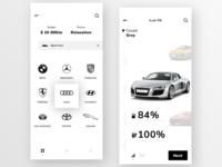 Car rental mobile app concept