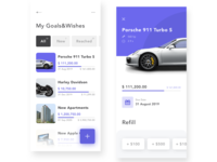 Wishes list app concept