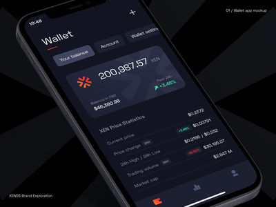 Wallet app mockup mockup dark ui crypto wallet wallet app app ui branding design