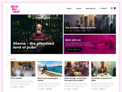 Travel blog redesign ux clean wordpress blog
