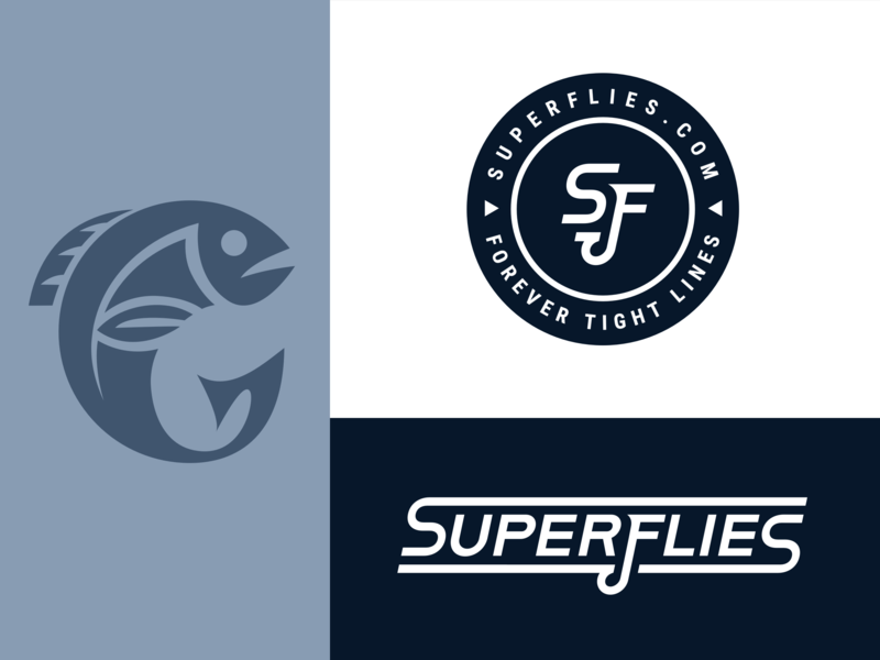 Superflies typography icon flat branding logo design vector