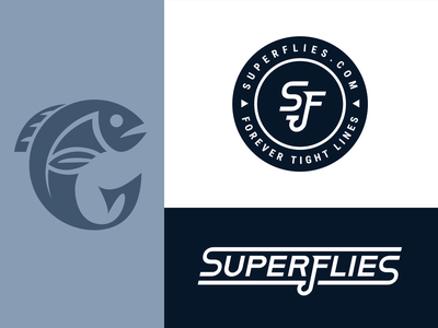 Superflies typography icon flat branding logo design vector