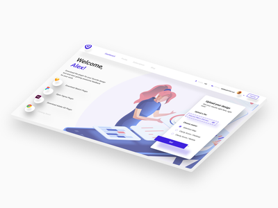 Isometric Homepage ux ui uxui ux design uxdesign ux user interface design user interface ui ux uiux ui design uidesign ui sketch minimal isometric illustration figma design dashboard adobexd