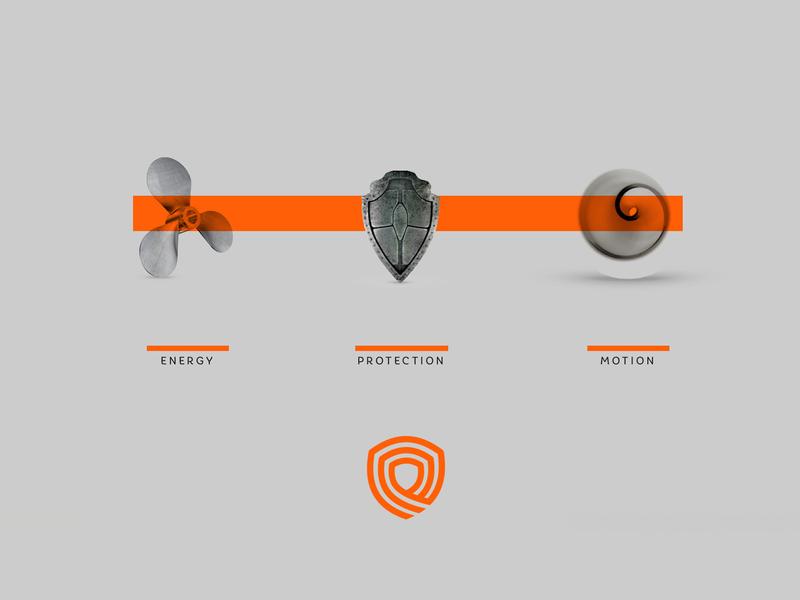 Elica Inspiration process shield design orange gray icon inspiration logo design symbol inspiration logo branding