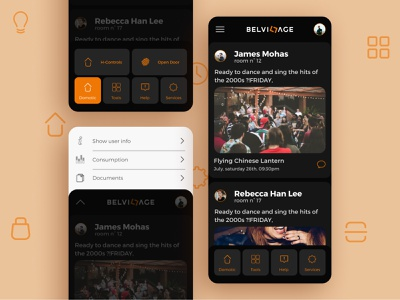 BELVILLAGE - A new experience app for domotic control apartments for sale apartments apartament domo domotic app domotic controls domotic smart house smart home app menu design interaction design interactions interface app icon geometric flat design ux ui