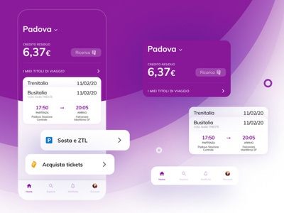 UX redesign - MyCicero application travel hours app design color purple parking parking app park ticket ticket app components concept app concept design redesign concept app minimal flat design ux ui