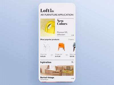 Augmented Reality app video 3d furniture app mapping scanning virtual reality augmented reality animation interaction design app design typography app ux ui design