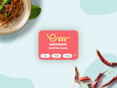 EAT'N'MEET - feed like home - key interactions app animation after effect icon vector food app animation app design interaction design app ux ui design