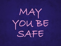 May You Be Safe quarantine print poster design lettering typography