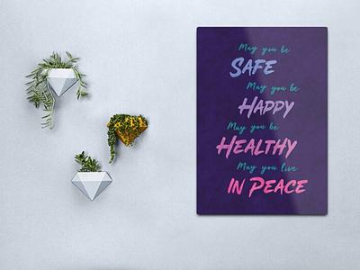 Loving Kindness Meditation rustic purple wall art design art poster typography print