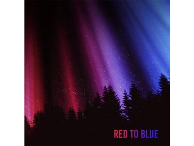 Red to Blue Cover Art musician music forest aurora borealis northern lights album art poster print design