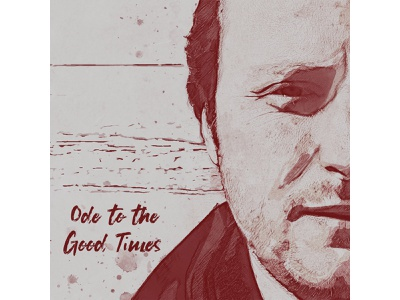 Ode to the Good Times cover art album cover grunge art lettering retro print typography