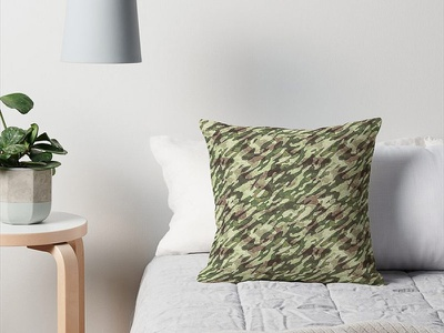 Comfy Camo Cushion pattern green forest fashion pillow throw pillow camouflage cushion camo