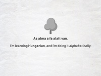 Learning Hungarian Alphabetically