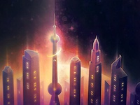 City in Space Photoshop Actions