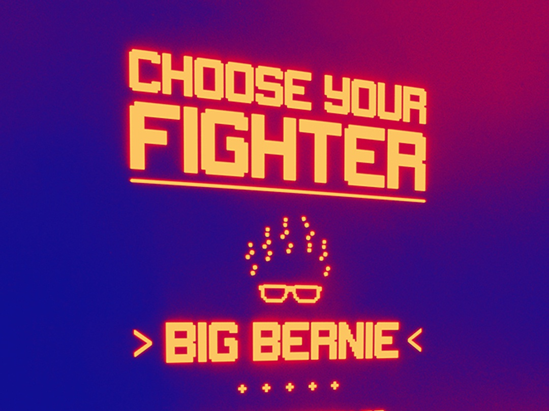Choose Your Fighter t shirt design bernie sanders bernie 2020 80s 90s video game retro