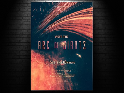 Arc of Giants Poster planet space travel poster retro poster sci fi art poster retro print