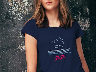 Vaporwave Bernie 2020 politics logo 80s 90s t shirt design retro print typography