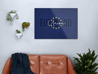 European Union Poster flag logo politics design lettering poster print typography